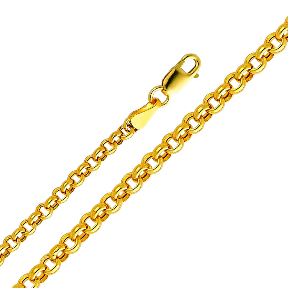 Precious Stars 14k Yellow Gold 3-mm Hollow Rolo Chain Bracelet (8 inch) at Sears.com