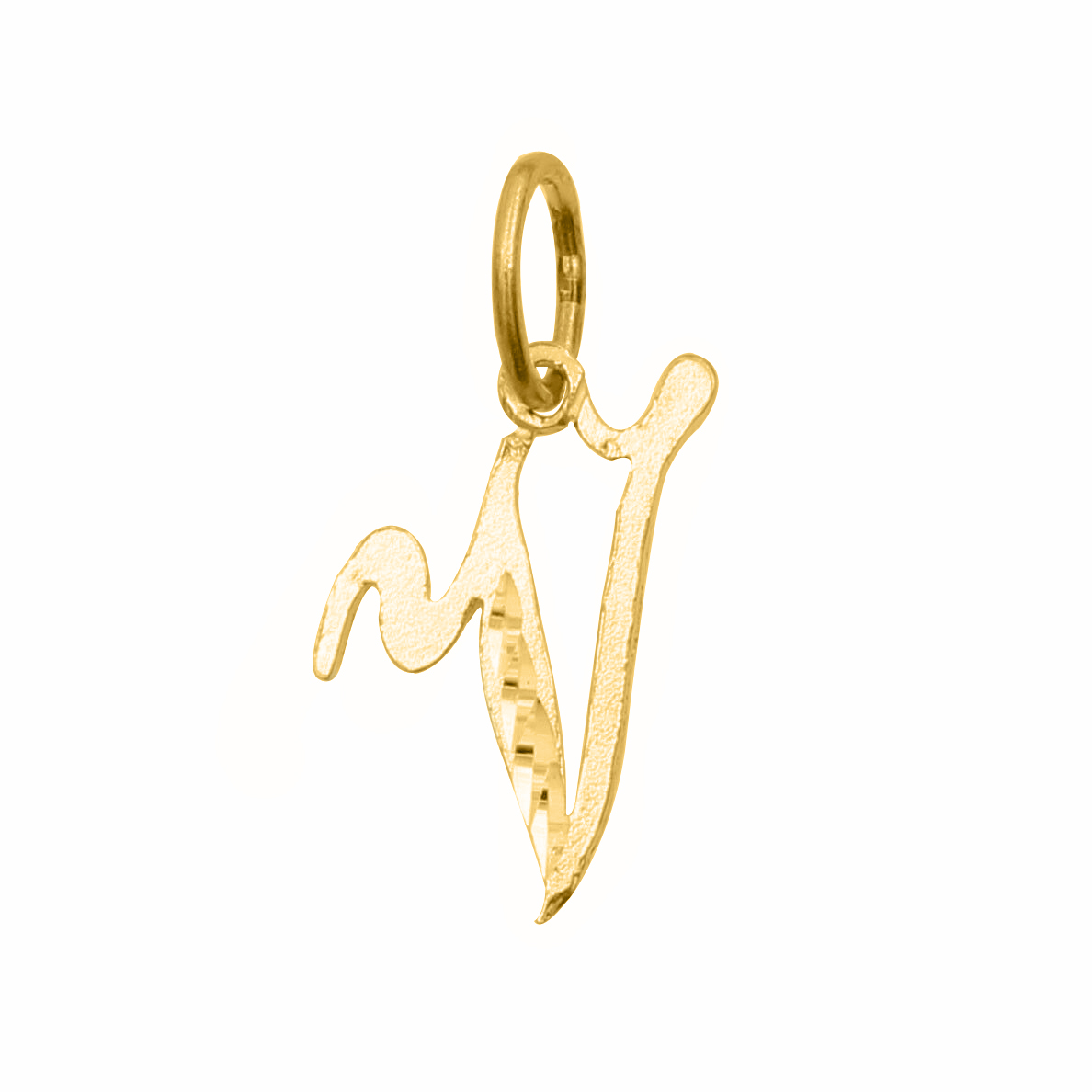 14k Yellow Gold Diamond Cut Cursive Letter Initial V Pendant Ebay This translator is essentially generating unicode cursive/script symbols which resemble letters from the latin alphabet. details about 14k yellow gold diamond cut cursive letter initial v pendant