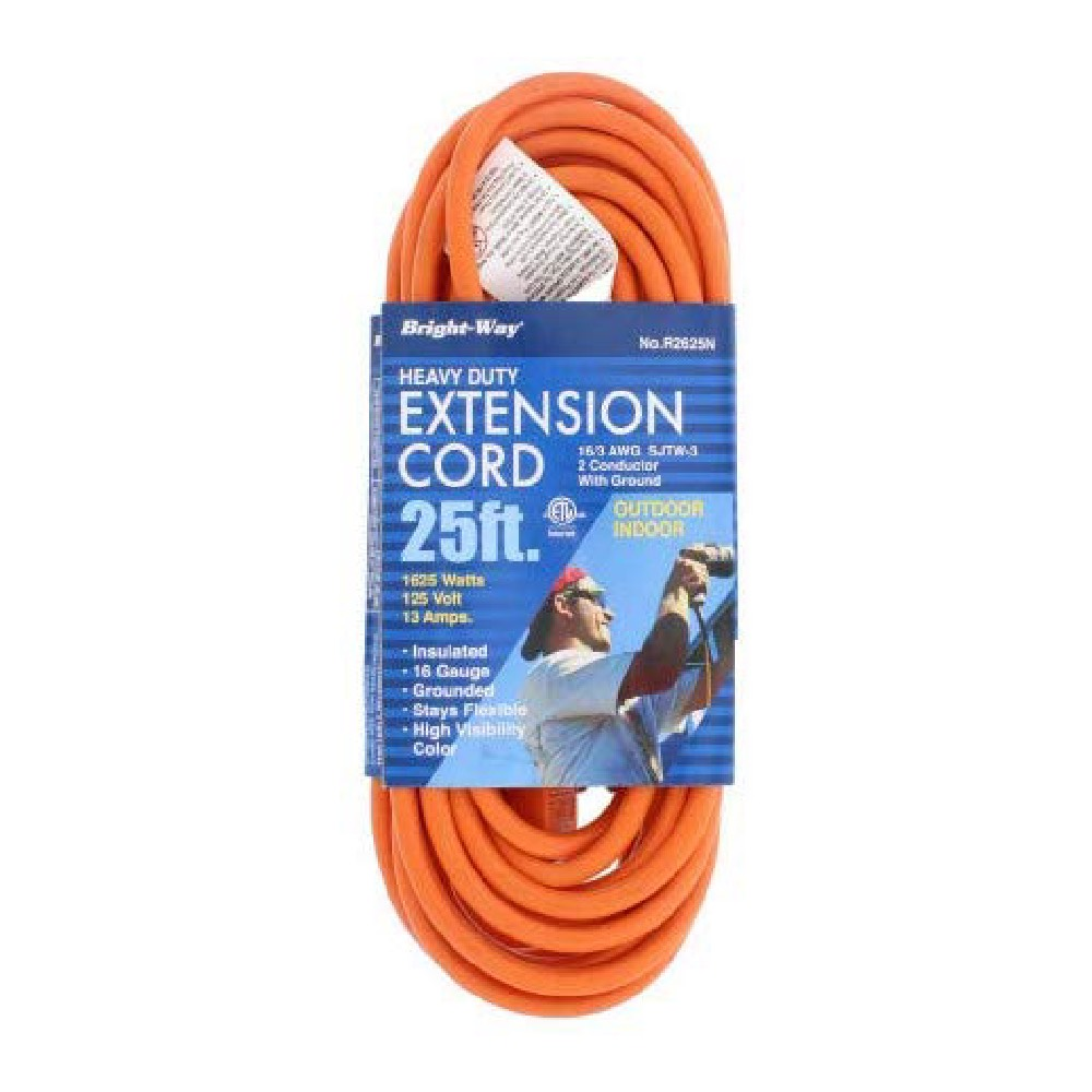 Extension Cord Bright Way R2625 Heavy Duty 25ft Long ...